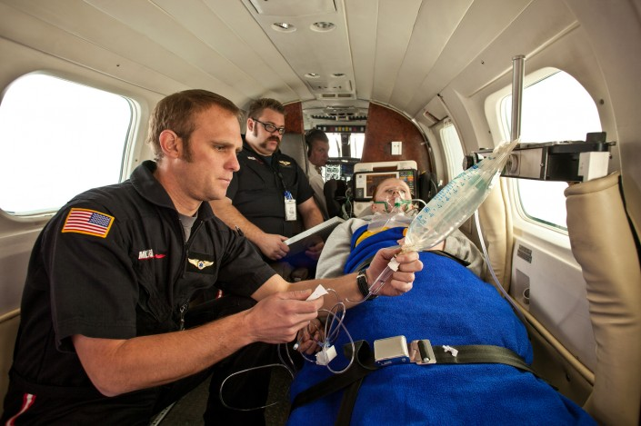 american-med-flight-medical-transport-plane-advertising-editorial-hospital