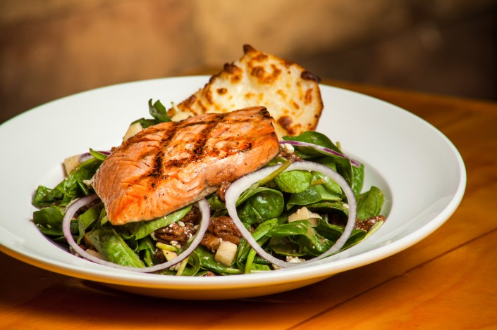 CBQ-sparks-nevada-legends-outlet-salmon-food-salad-drink
