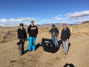 The team having fun in the Nevada desert.